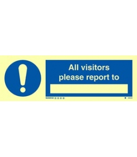 5855 All visitors please report to _________