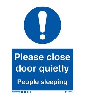 5877 Please close door quietly … people sleeping