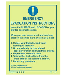 5903 Emergency evacuation instructions