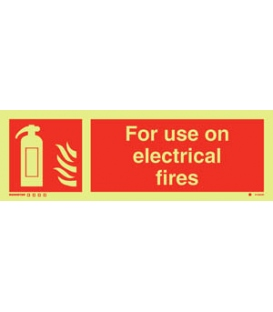 6165 For use on electrical fires + symbol