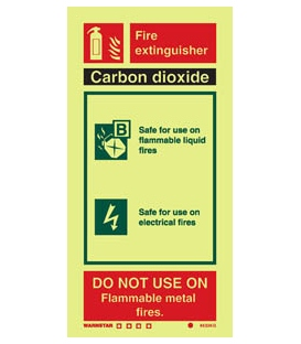 6433 Carbon dioxide fire extinguisher (including class pictos)
