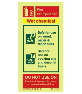 6434 Wet chemical fire extinguisher (including class pictos)