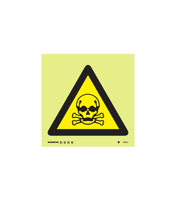 Hazard Signs Photoluminescent Rigid Pvc Poison Toxic