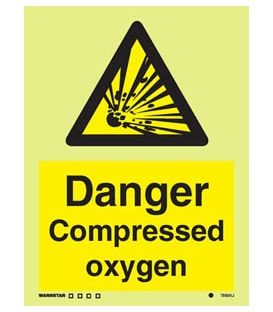 7585 Danger Compressed oxygen