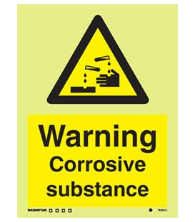 7596 Warning Corrosive substance