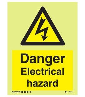 7611 Danger Electrical hazard