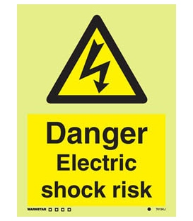 7613 Danger Electric shock risk