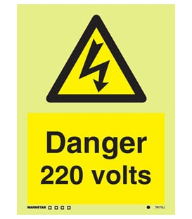 7617 Danger 220 volts
