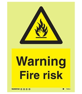 7630 Warning Fire risk