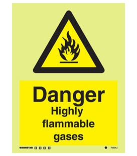 7632 Danger Highly flammable gases