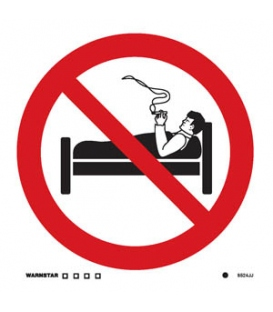 8524 No smoking in bed symbol