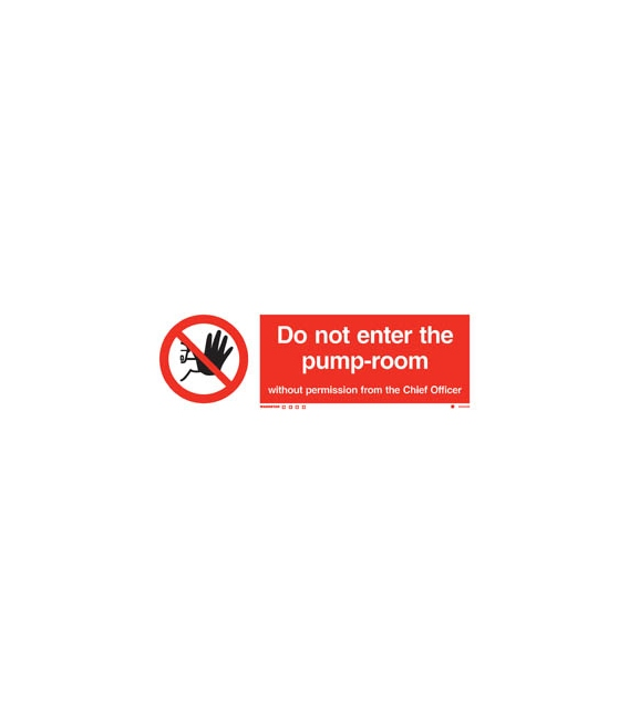prohibition signs photoluminescent rigid pvc do not