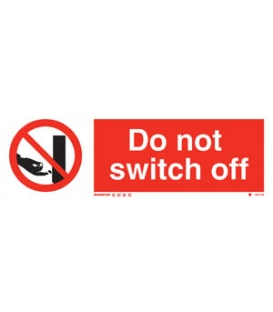 8551 Do not switch off + symbol