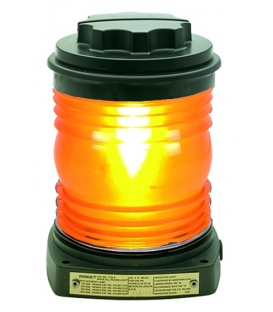 Single Lens Navigation Light - Yellow Towing Light 1129 (Black Plastic)