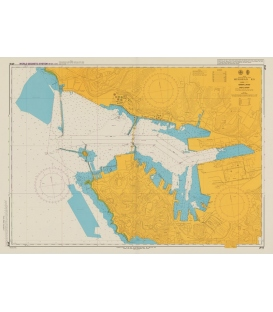 British Admiralty Japanese Nautical Chart 16 Muroran Ko