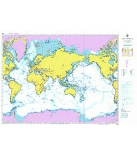 British Admiralty Nautical Chart 4000 The World