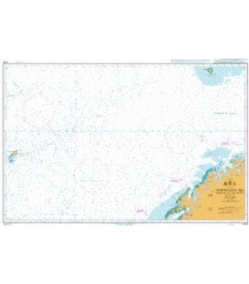 British Admiralty Nautical Chart 4100 Norwegian Sea Norway to Jan Mayen