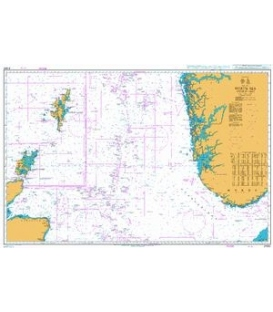 British Admiralty Nautical Chart 2182C North Sea Northern Sheet