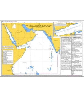 Q6099 Anti-Piracy Planning Chart Red Sea, Gulf of Aden and Arabian Sea