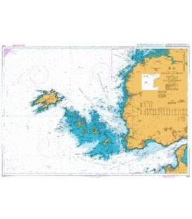 British Admiralty Nautical Chart 2356 Goulet de Brest to Portsall including Ile d'Ouessant