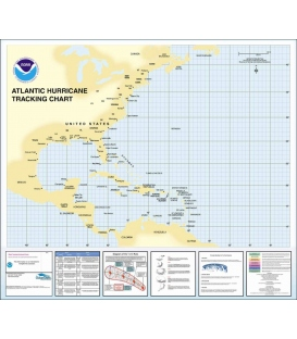 Hurricane Tracking Chart Western Atlantic