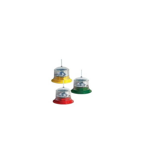Sealite PC-415 Lighted Pile Caps Comes with SL15 self-contained solar LED marine lantern - range of colours available
