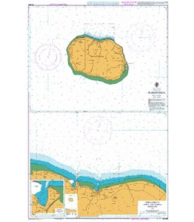 British Admiralty New Zealand Nautical Chart NZ9558 Rarotonga