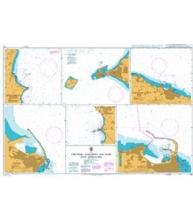 British Admiralty Nautical Chart 140 Crotone, Gallipoli and Bari with Approaches