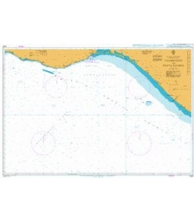 British Admiralty Nautical Chart 1023 Champerico to Punta Galera