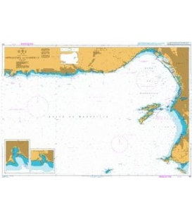 British Admiralty Nautical Chart 153 Approaches to Marseille