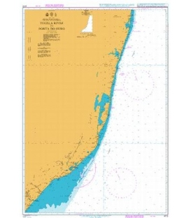 British Admiralty Nautical Chart 4172 Tugela River to Ponta do Ouro