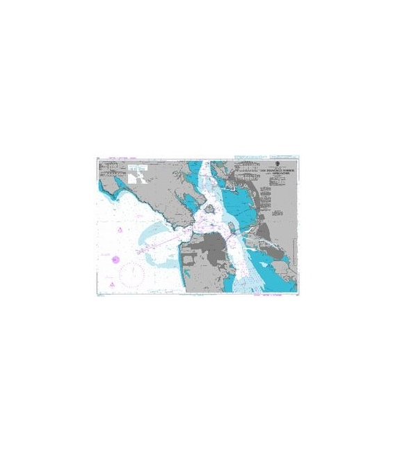 British Admiralty Nautical Chart 591 San Francisco Harbor and Approaches