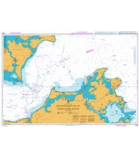 British Admiralty Nautical Chart 2945 Waters between Rügen and Mon
