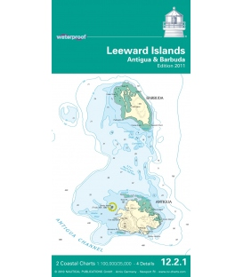 NV-Charts Waterproof 12.2.1 Leeward Islands (Antigua and Barbuda), 2011 Edition