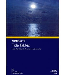 NP207 Admiralty Tide Tables (ATT) Volume 7 South West Atlantic Ocean and South America, 2016 Edition