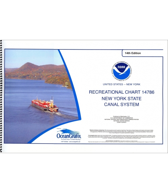 NOAA Chart 14786 SMALL-CRAFT BOOK CHART New York State Canal System (book of 61 Charts)