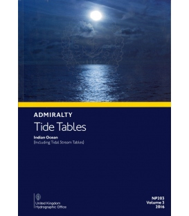 NP203 Admiralty Tide Tables (ATT) Volume 3, Indian Ocean (including Tidal Stream Tables), 2016 Edition