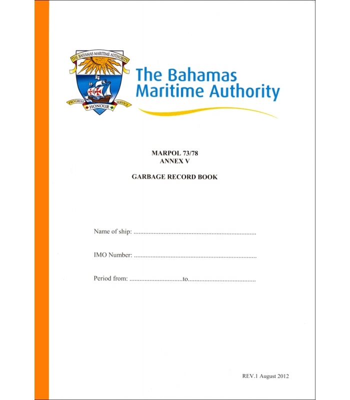 the bahamas maritime authority garbage record book
