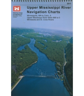 Upper Mississippi River Chart Book (w/ CD-ROM), 2011 Edition