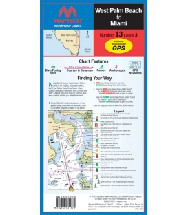 Maptech - Florida: West Palm Beach to Miami Waterproof Chart