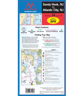 Sandy Hook, NJ to Atlantic City, NJ Waterproof Chart, 4th, 2014