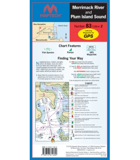 Merrimack River and Plum Island Sound Waterproof Chart, 2nd, 2016