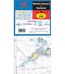 Martha's Vineyard to Nantucket Waterproof Chart, 2nd, 2016