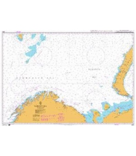 British Admiralty Nautical Chart 2683 Barents Sea - Southern Part