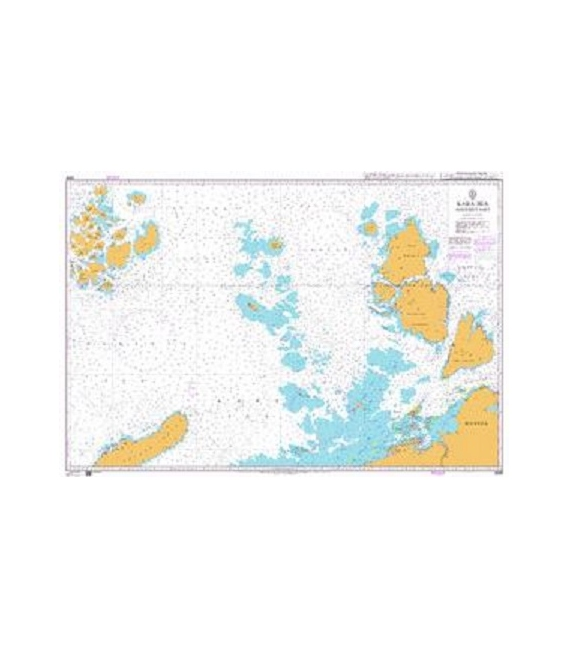 British Admiralty Nautical Chart 2683 Barents Sea Southern Part