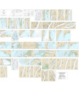 NOAA Chart 14853 (Small-Craft Chart Book) - Detroit River, Lake St. Clair and St. Clair River (book of 47 charts)