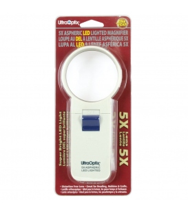 2.5 Round LED Lighted 5X Magnifier