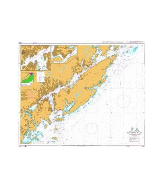 British Admiralty Nautical Chart 3506 Arendal Havn and Approaches