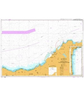 British Admiralty Nautical Chart 141 Approaches to Tanger-Mediteranee