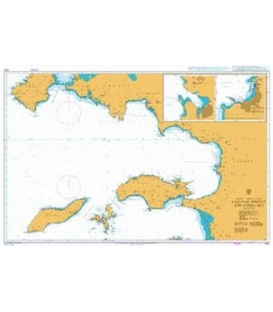 British Admiralty Nautical Chart 1057 Kusadasi Korfezi and Approaches